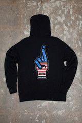 Amercian Loser Zip Hood fleece