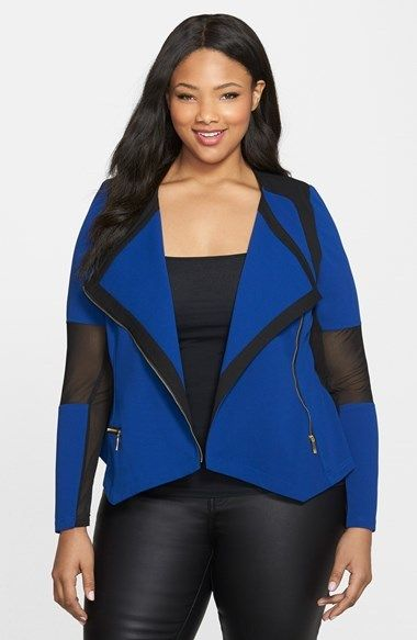 f20cf874d3107 Plus Size Moto Jacket - Plus Size City Chic  Mono  Ponte Moto Jacket (Plus  Size)