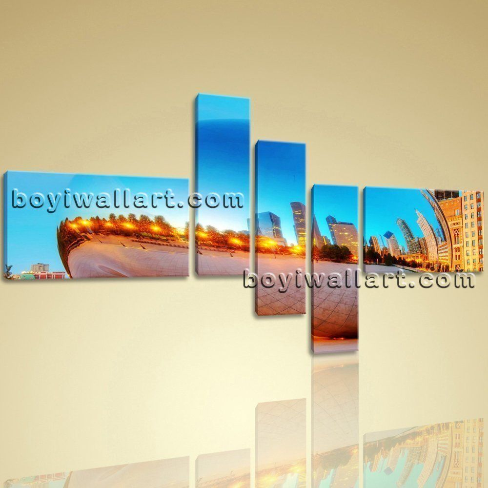 X large modern print cityscape picture painting office wall decor