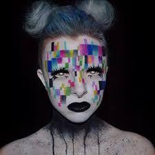 Resultado de imagem para glitch makeup