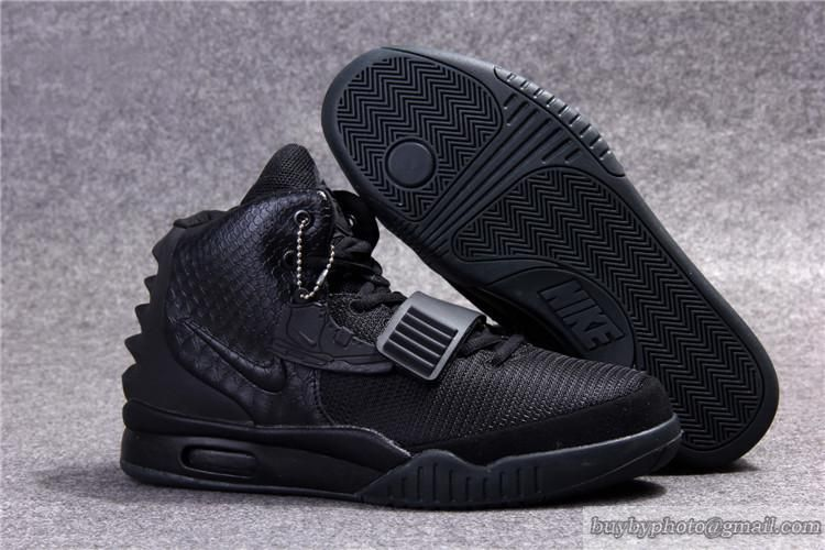 Nike Air Yeezy 2 Yeezy Ii Nrg Kanye West Basketball Shoes All Black Black Nikes Nike Shoes Outlet Nike