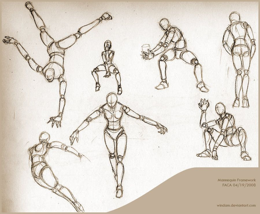 Mannequin Framework Practice Drawing Poses Figure Drawing Poses Drawings