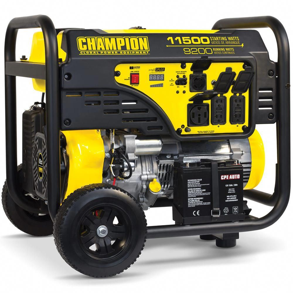 Champion 100110 9200 Watt Electric Start Portable
