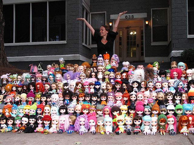 I think she now has over 300 Blythe dolls... LOL so ...