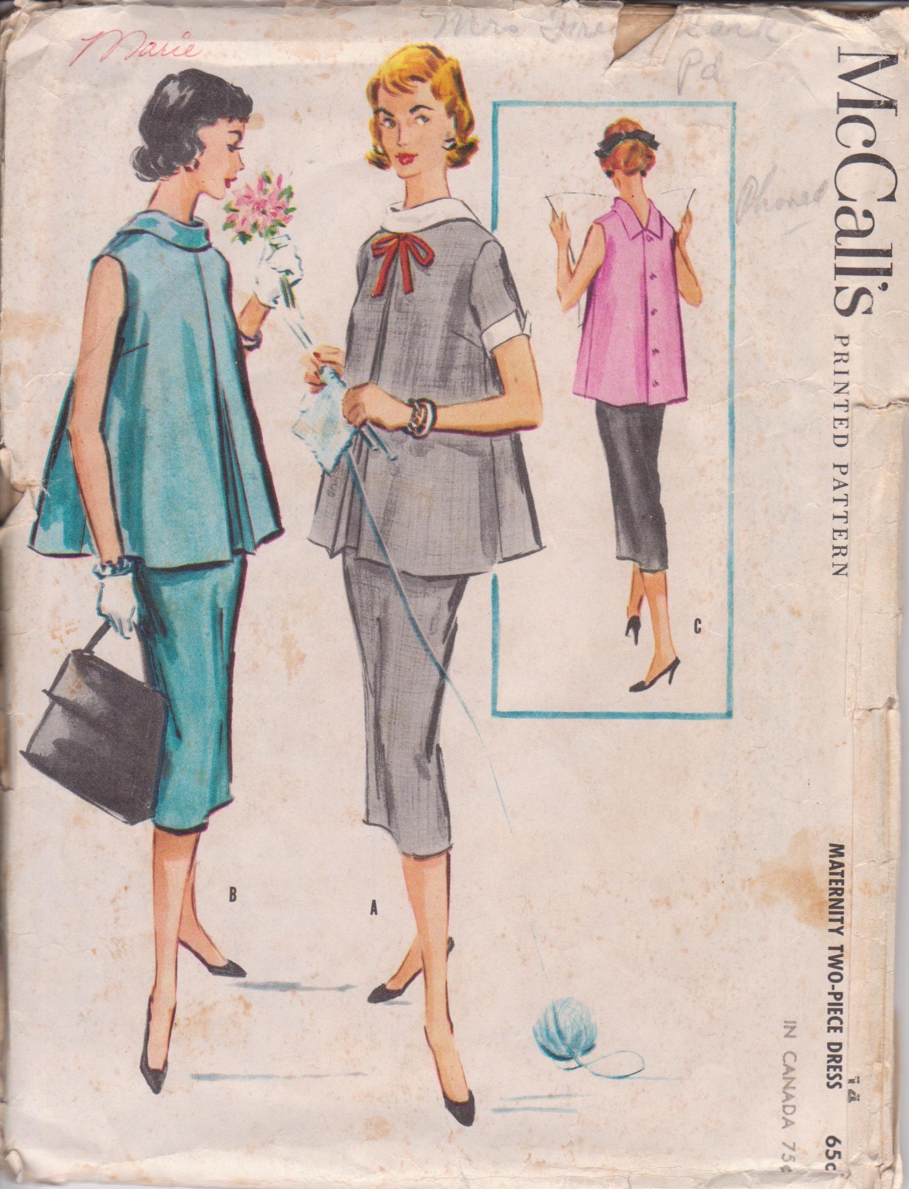 Vintage mccalls maternity pattern sew retro pinterest vintage maternity two piece dress sew pattern mccalls 3877 size 14 ombrellifo Gallery