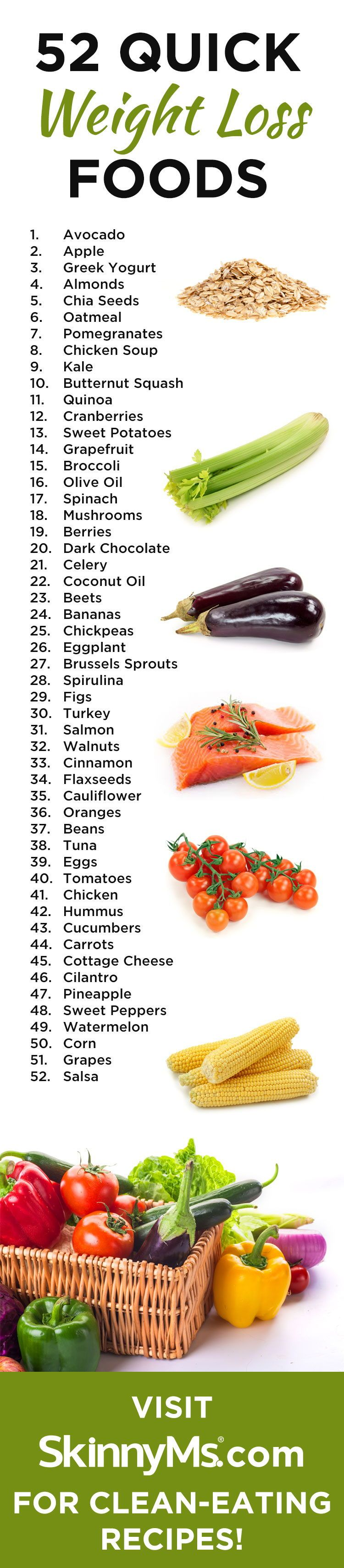 52 Quick Weight Loss Foods