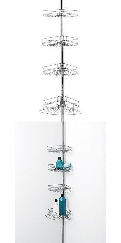 Bath Caddies and Storage 54075: Pole Shower Caddy Rustproof ...