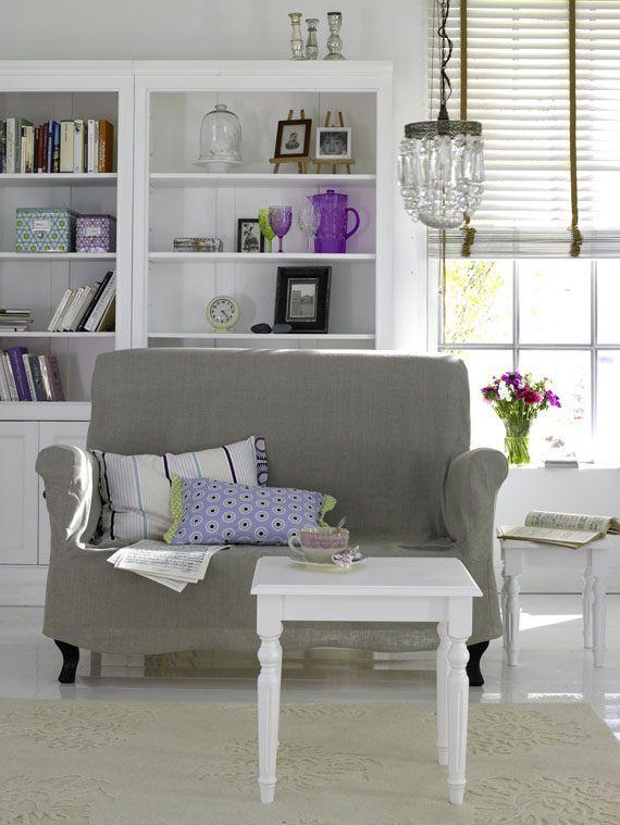 Dieses nostalgische Sofa passt wunderbar zu unserem Sessel und ...