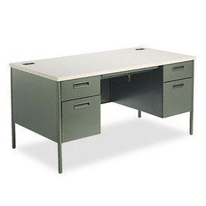 Hon Metal Desk 584 99 Double Pedestal Desk Pedestal Desk Best Home Office Desk
