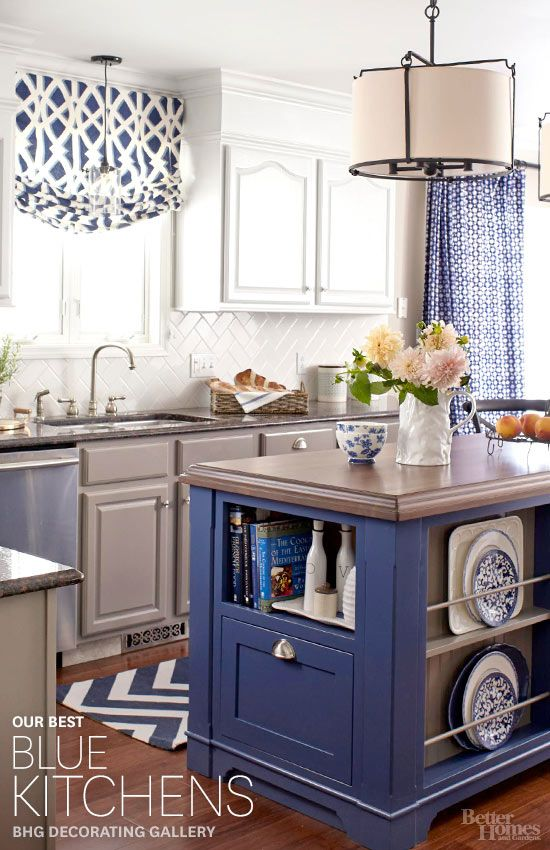 the best inspiration for blue kitchens from better homes and gardens