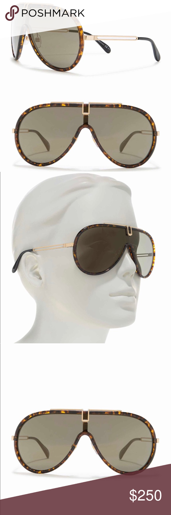 Givenchy 99mm Aviator Sunglasses Aviator Sunglasses Sunglasses Givenchy