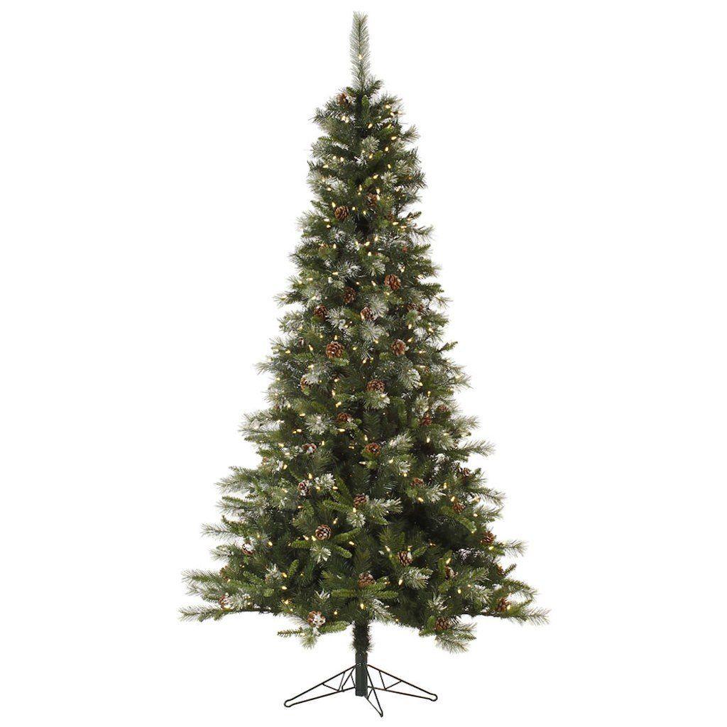 Vickerman Pre-Lit Iced Sonoma Spruce Tree with 350 Warm White ...