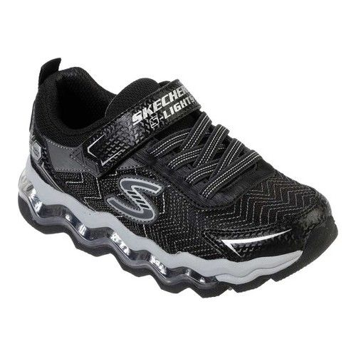 Skechers Wavy Lites Girl Sport Shoes Black With Pink With