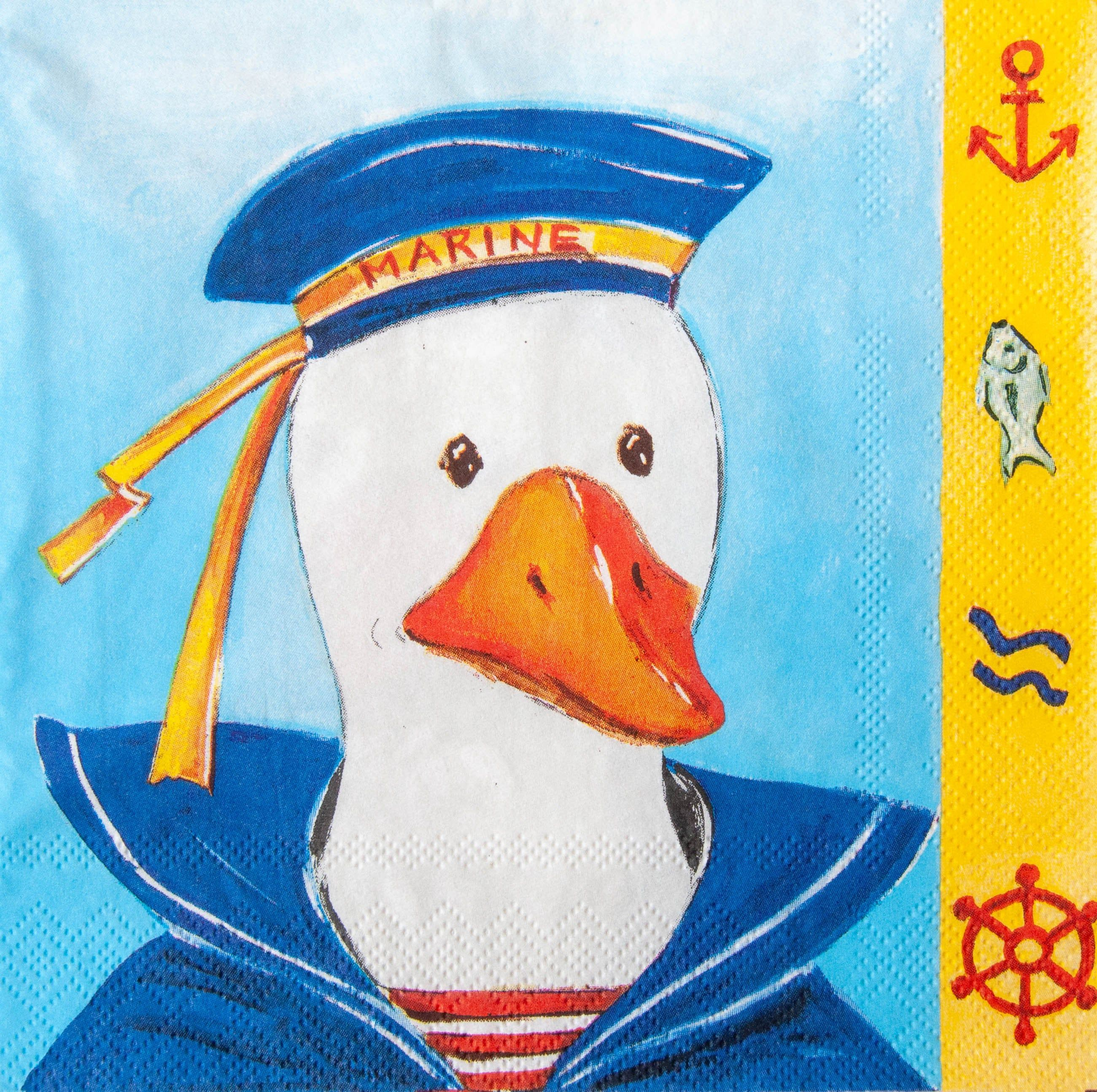 Nautical Paper Napkins Set 20 Paper Napkins For Decoupage