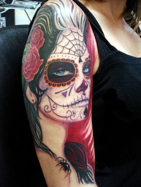 Catrinas Tattoo Tatuagens Alucinantes Tatuagem Catrina border=
