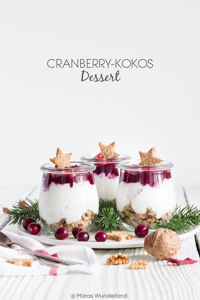cranberry kokos dessert rezept sweets my sweet kokos. Black Bedroom Furniture Sets. Home Design Ideas