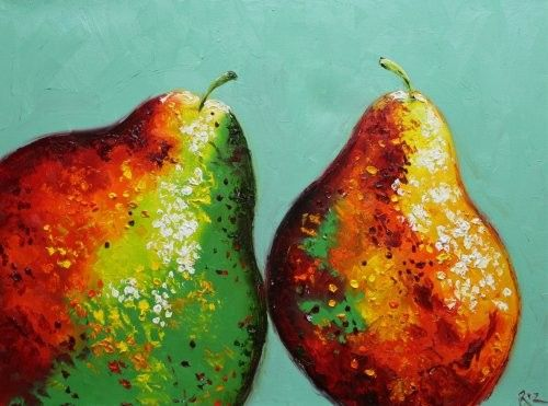 Pears painting 23 18x24 inch original oil painting by by RozArt, $175.00