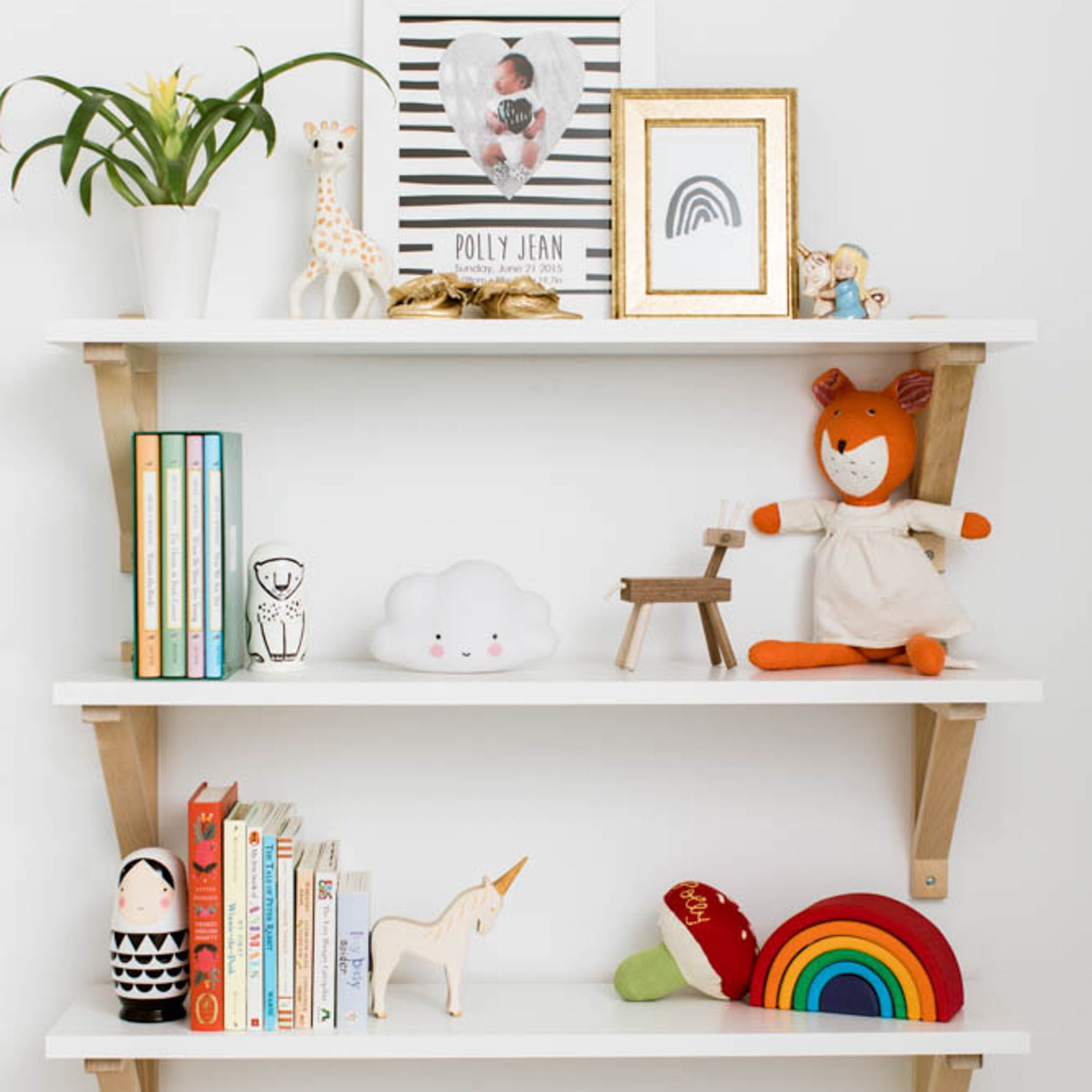 Here's What's Trending in the Nursery | Kids room shelves, Tiny