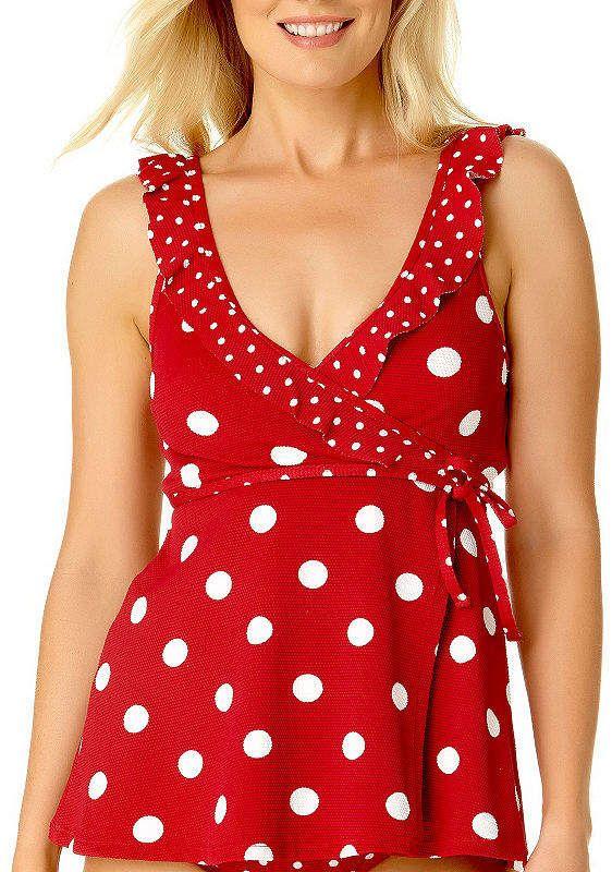 Liz Claiborne Dots Tankini Swimsuit Top #Sponsored , #Affiliate, #Dots#Claiborne#Liz