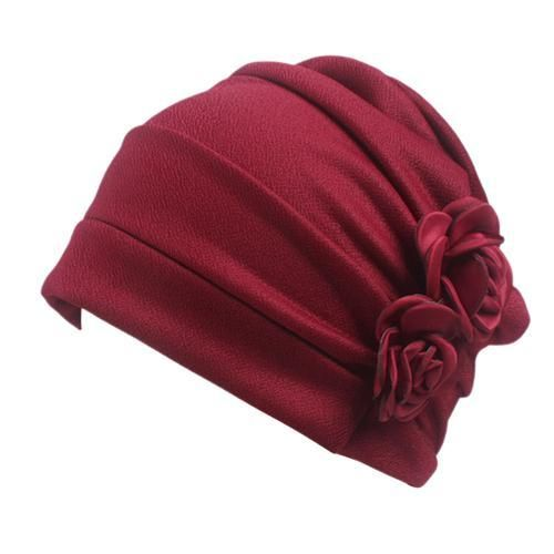 Women Large Flower Model Headscarf Chemotherapy Cap Western Style Ruffle  Cancer Chemo Hat Beanie Scarf Turban 1326a58dfbe6