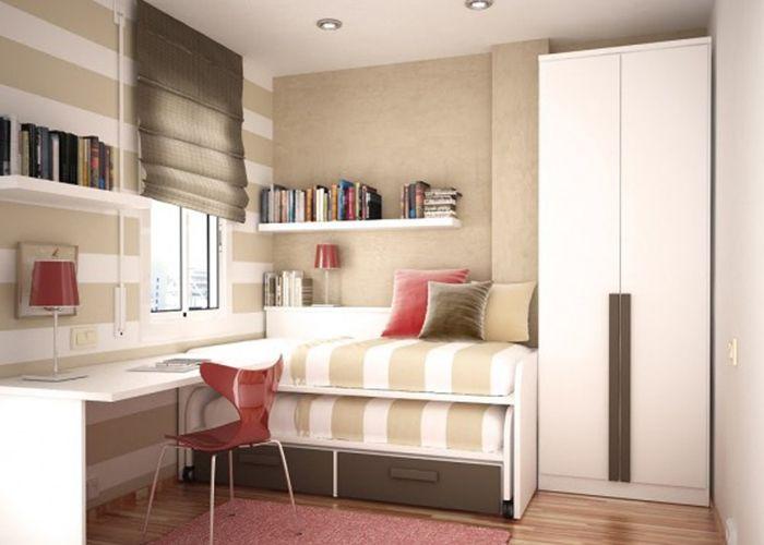 quartos pequenos planejados de solteiro tres camas  ~ Quarto Solteiro Pequeno
