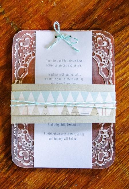 Blue Wedding Inspiration | Lace Invitation