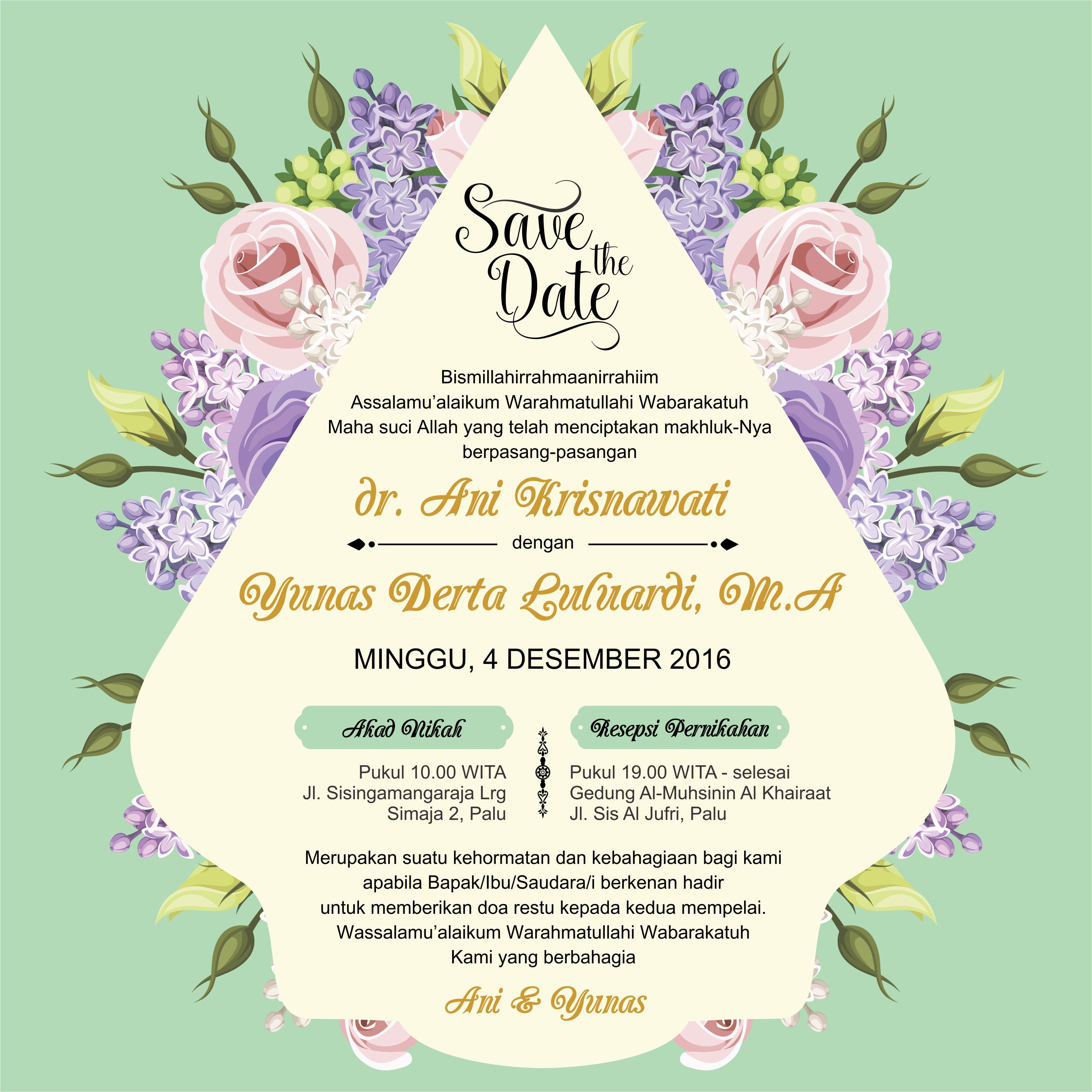 Undangan Sosmede Invitation Wedding E Invitation In 2019