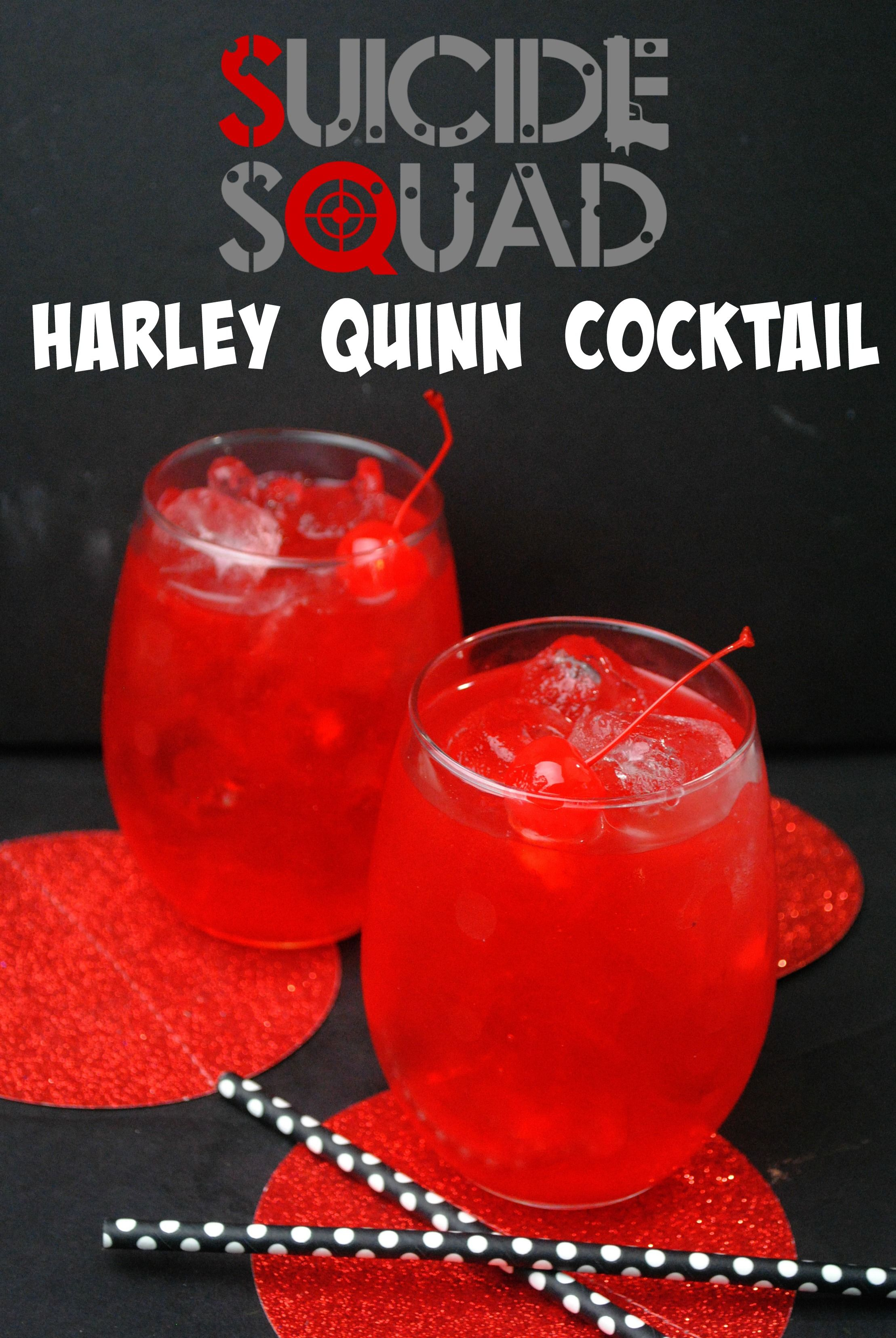 Our Harley Quinn cocktail is a great, fruity, rum punch
