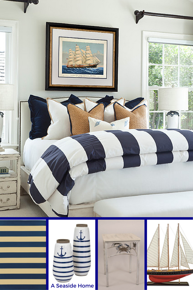 Navy Blue White Beige And A Touch Of Red Paired With A