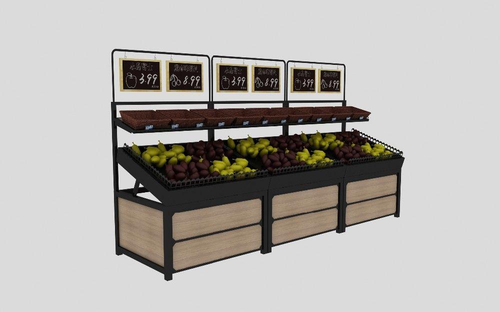 2 Tier Fruit And Vegetable Produce Display Rack Shelves Fruit And Vegetable Storage Vegetable Rack Fruit Shop