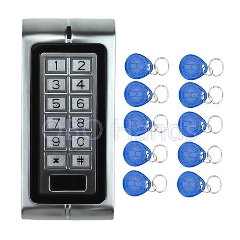 Free Shipping 125khz Metal Access Controller Keypad Waterproof Rfid Door Lock Access Control System K2 Model 10 Access Control System Access Control Door Locks