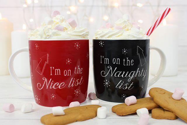 Wholesale Naughty And Nice Christmas Mugs Something Different Cool Mugs Christmas Mugs Mugs