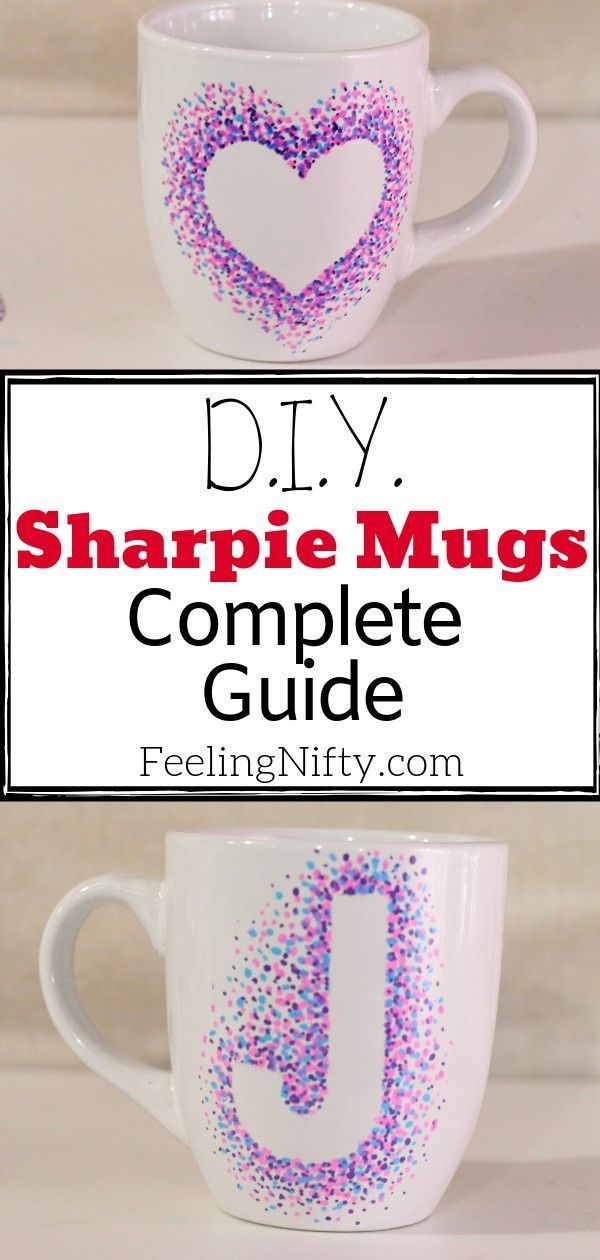 Complete Guide to Sharpie Mugs - with Simple Designs and Ideas This Sharpie mug is an easy craft and DIY to make. Lots of ideas on different designs too! A easy DIY to make when your bored, to give as a gift or even for teenagers and kids! Includes instructions on how to make your mug and design washable.This Sharpie mug is an easy craft and DIY to make....