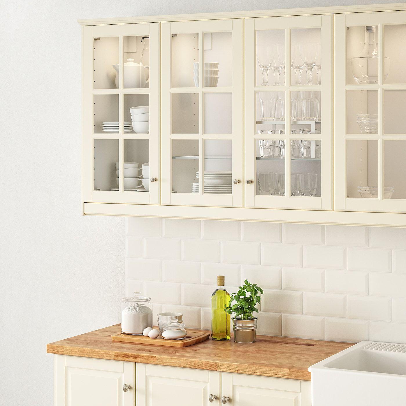 Bodbyn Vitrinentur Elfenbeinweiss Ikea Osterreich In 2020 Modern Kitchen Kitchen Design Kitchen Cabinet Doors