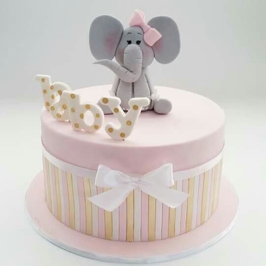 Cute baby shower pastel colors cake!