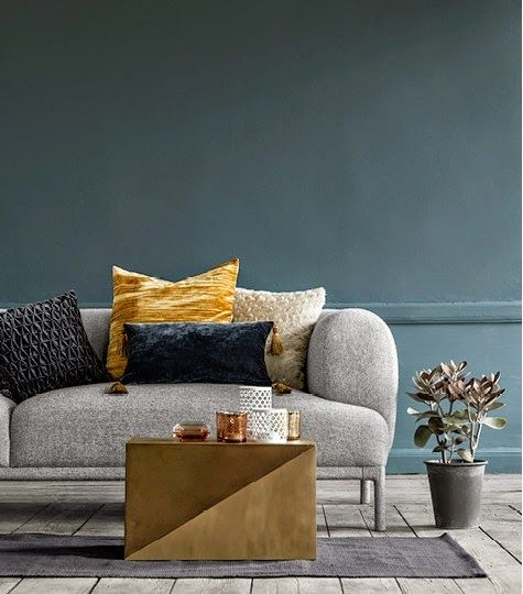 h m home fall 2014 two toned blue yellow pinterest