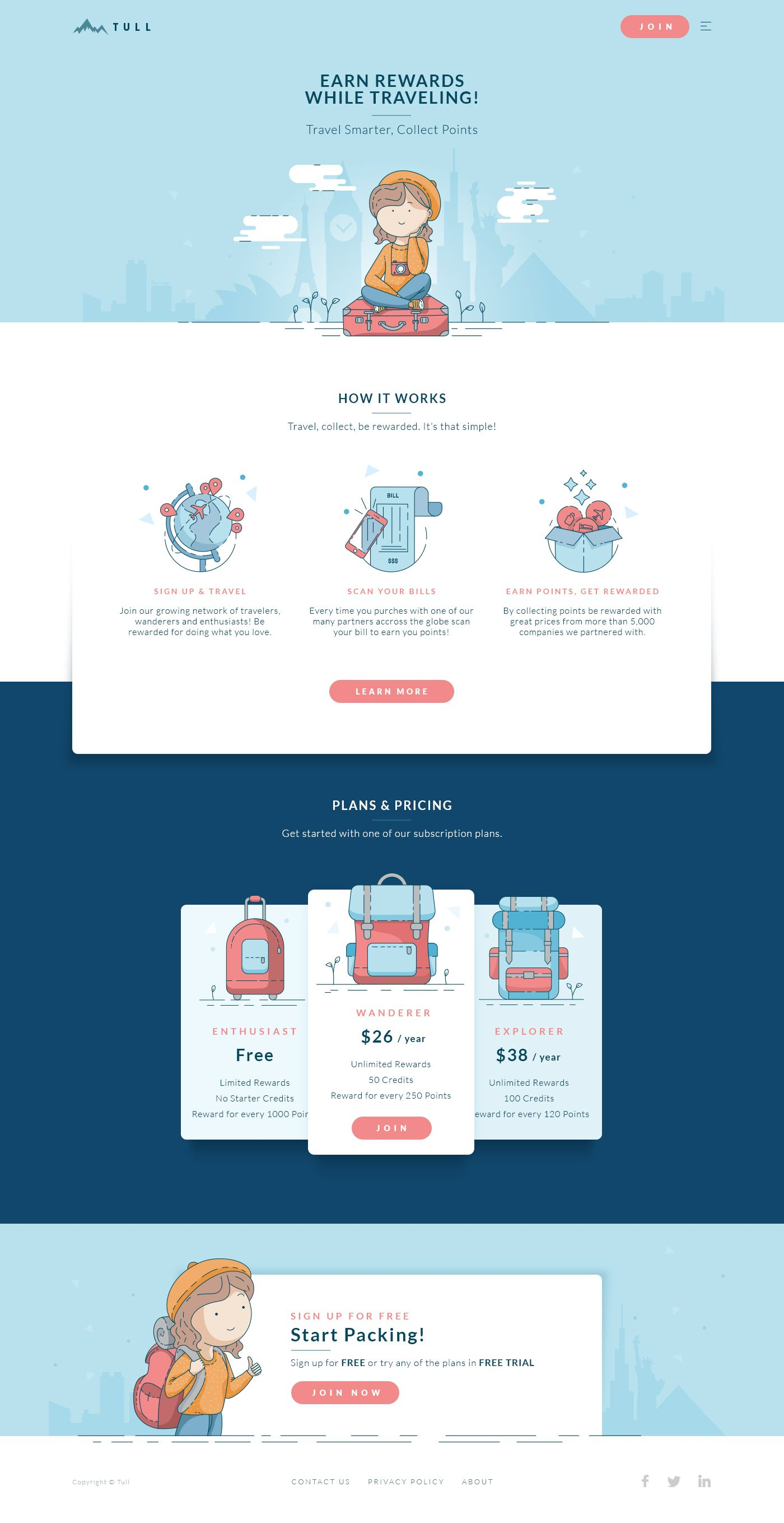 Website Such Cute Little Illustrated Elements I D Like To Create Something Like This Web Design Flat Web Design Web Layout Design