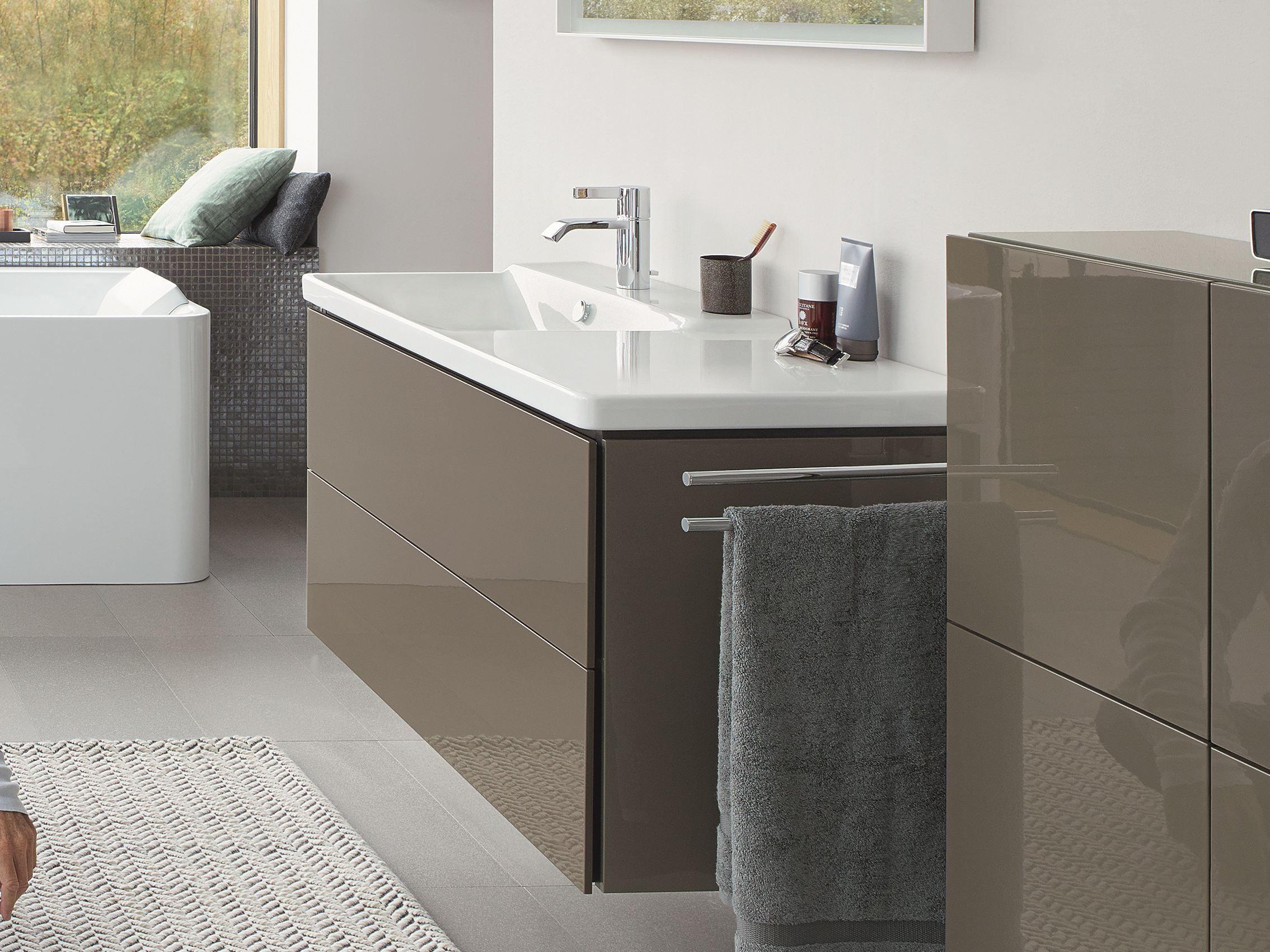 P3 COMFORTS | Washbasin with integrated countertop | Duravit ... | {Doppelwaschtisch aufsatzwaschbecken duravit 91}