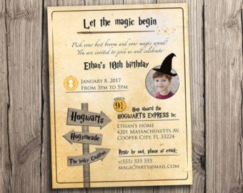 harry potter party printables harry potter party by readyforparis, Einladung