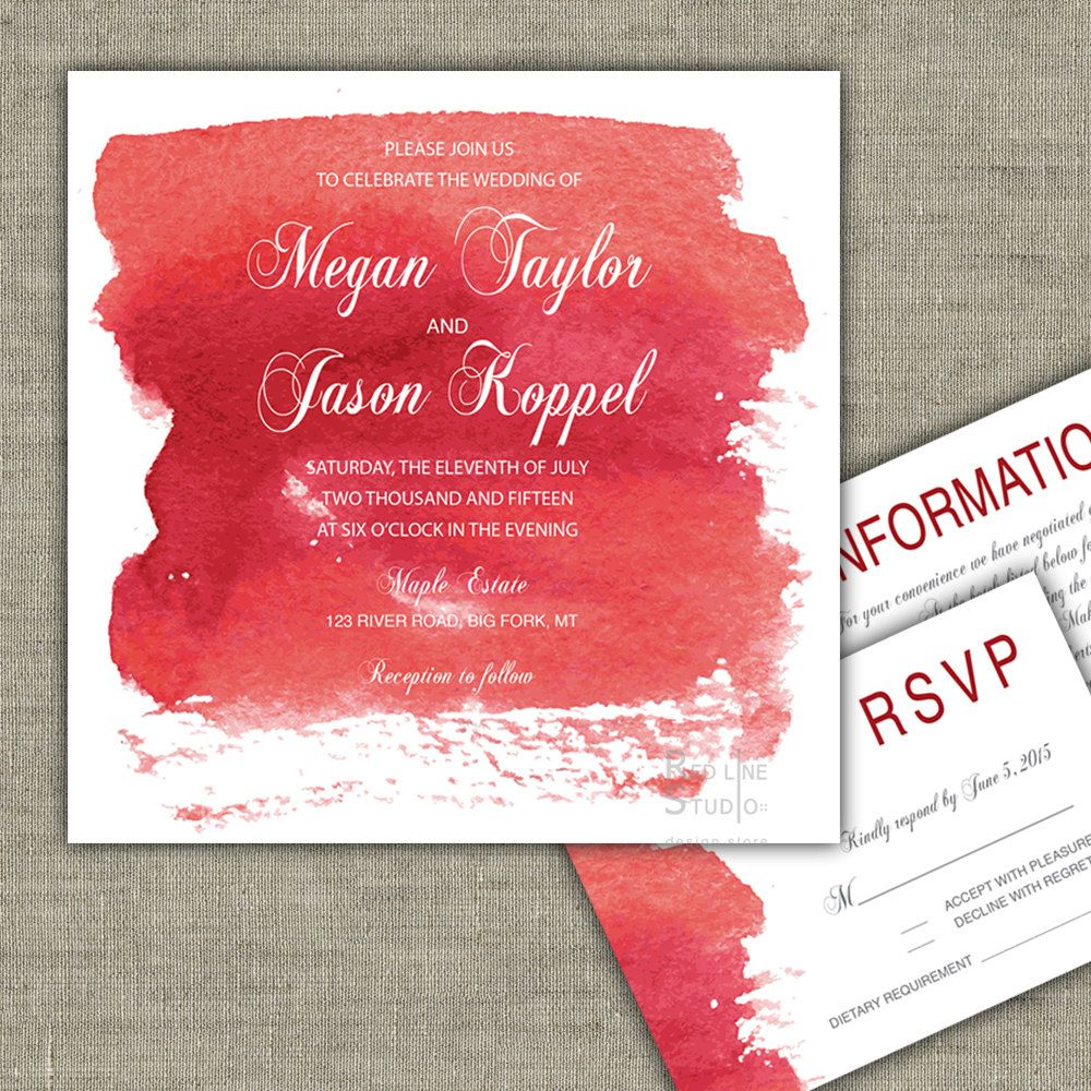 Colorful Shotgun Wedding Invitations Ensign - Invitations and ...