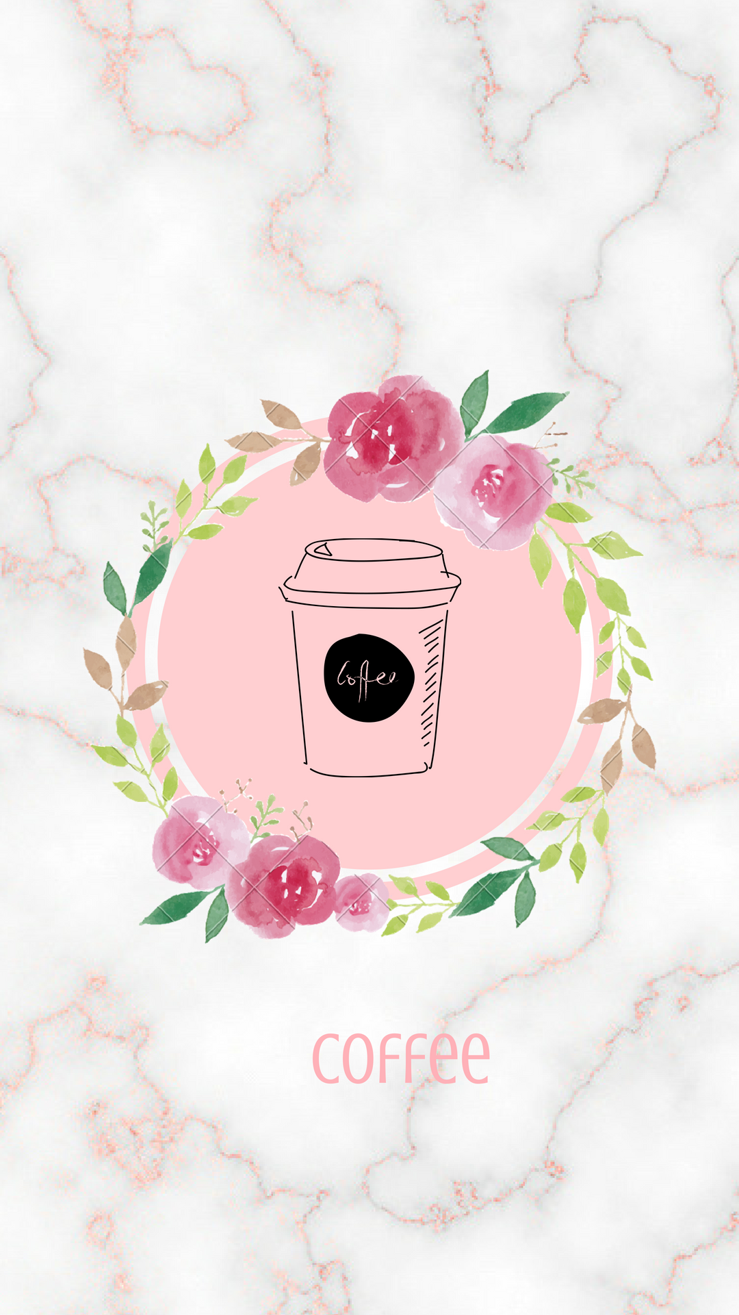rose gold marble instagram highlight cover (With images