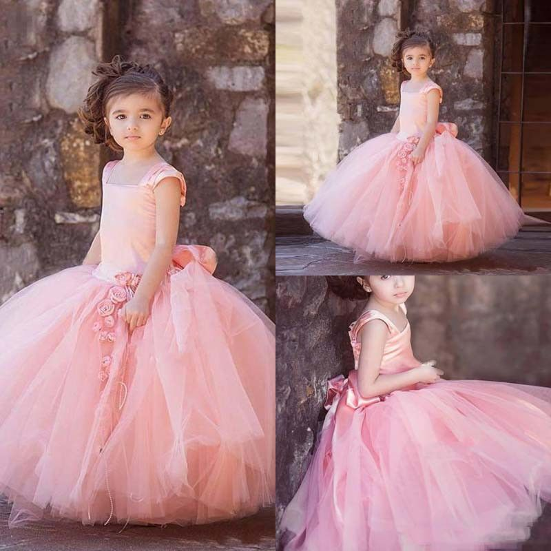 Click to Buy << Puffy Flower Girl Dresses 2017 Tulle Girls Prom ...