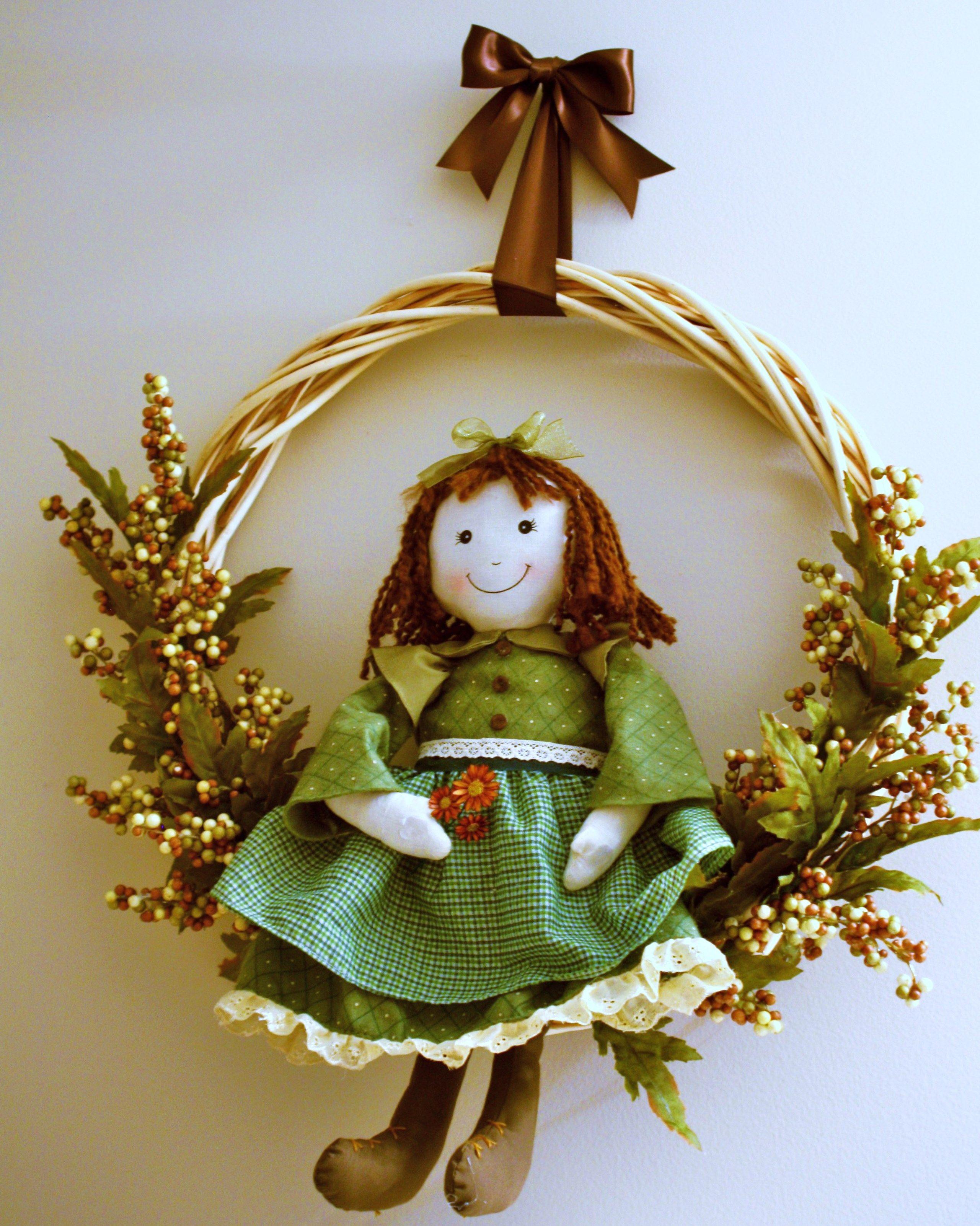 Irish girl wreath Holiday decor, Christmas ornaments