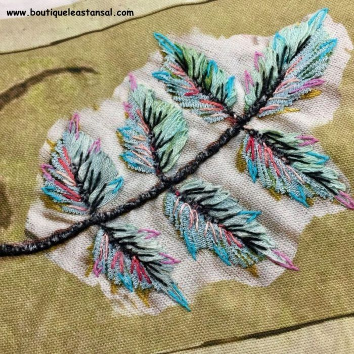 Comment broder des feuilles ? | Broderie, Broderie au ruban, Feuille
