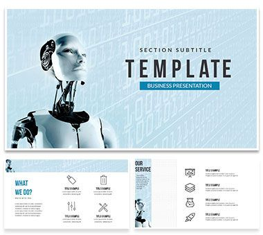 future intelligent robot powerpoint templates | powerpoint, Powerpoint templates