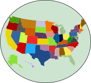 Create your own free custom map of USA states with the colors of