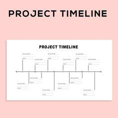 Project Management Scheduling Milestone Timeline Charts and Project Planner Spreadsheet template for digital