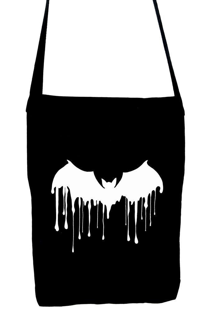 Drip Vampire Bat Sling Bag Melting Dracula Book