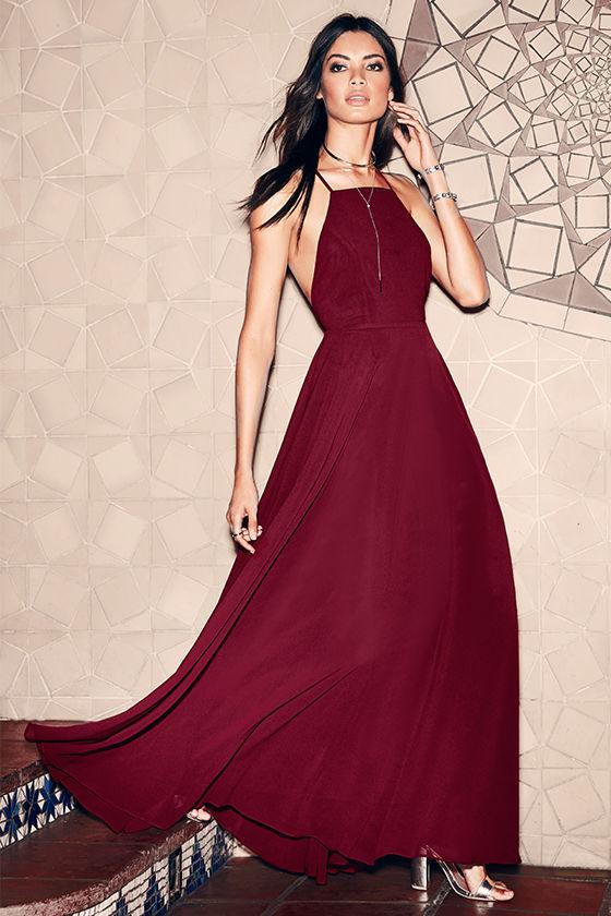 32+ Wine red long dress information