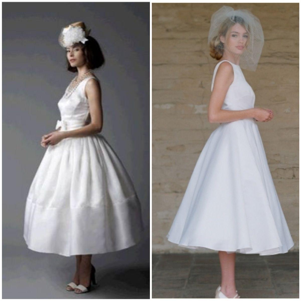 Vintage Bridal Tea Length Dress